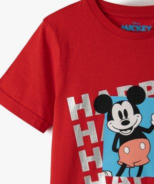 Tee-shirt garçon avec motif Mickey - Disney vue2 - DISNEY DTR - Nikesneakers