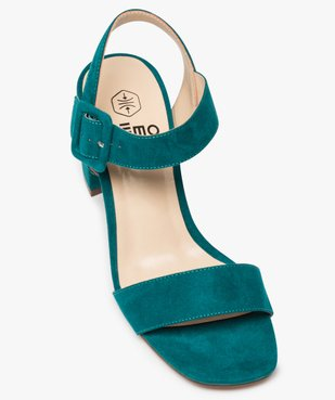 Sandales femme unies à talon carré et bride à boucle vue5 - GEMO(URBAIN) - GEMO