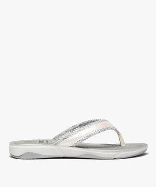 Tongs femme à semelle rembourrée et détails métallisés vue1 - Nikesneakers (PLAGE) - Nikesneakers