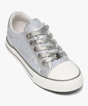 Baskets fille métallisées en toile Lulu Castagnette vue5 - LULU CASTAGNETT - Nikesneakers