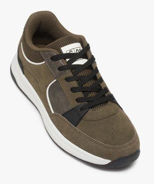 Baskets homme style skateshoes multimatières à lacets vue5 - GEMO (CASUAL) - GEMO