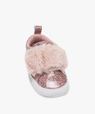 Chaussons de naissance bébé fille pailletés – Lulu Castagnette vue5 - GEMO C4G BEBE - GEMO