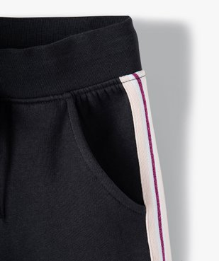 Pantalon de jogging fille avec bande pailletée sur les côtés vue3 - GEMO (ENFANT) - GEMO