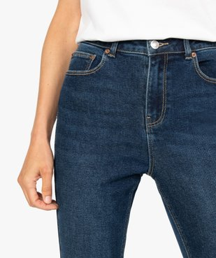 Jean femme en stretch coupe Skinny taille haute vue5 - GEMO(FEMME PAP) - GEMO