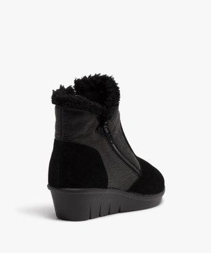 Boots femme confort unies à talon et doublure chaude vue4 - GEMO (CONFORT) - GEMO