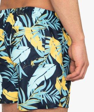 Short de bain homme motif feuillage multicolore vue2 - GEMO (PLAGE) - GEMO