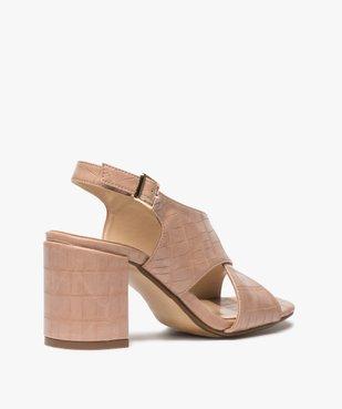 Sandales femme à talon et larges brides croisées vue4 - GEMO(URBAIN) - GEMO