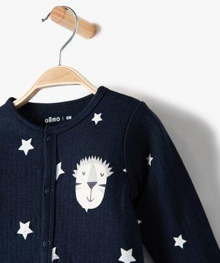 Pyjama bébé garçon avec motifs étoiles 100% coton biologique vue2 - GEMO C4G BEBE - GEMO