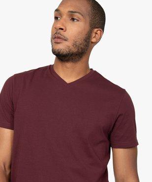 Tee-shirt homme à manches courtes et col V vue2 - GEMO C4G HOMME - GEMO