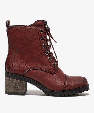 Boots femme unies à talon carré et zip décoratif vue1 - GEMO(URBAIN) - GEMO