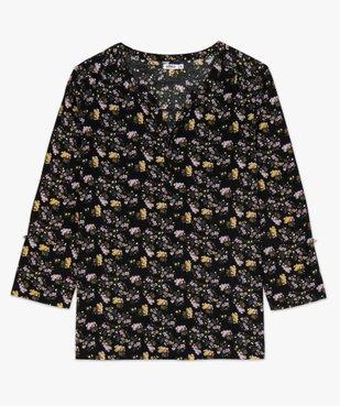 Tee-shirt femme à manches longues avec col fantaisie et boutons vue4 - GEMO(FEMME PAP) - GEMO