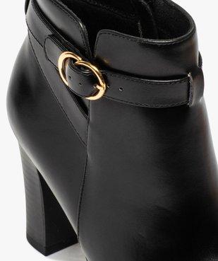 Boots femme unis à haut talon et bride fantaisie vue6 - GEMO(URBAIN) - GEMO