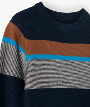 Pull garçon en maille fine 100% coton vue2 - Nikesneakers (ENFANT) - Nikesneakers