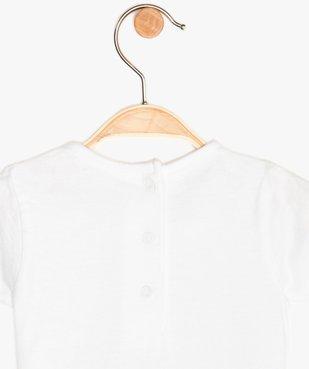 Tee-shirt bébé fille imprimé - Monsieur Madame vue3 - MONSIEUR MADAME - GEMO