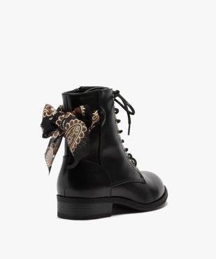 Boots femme à talon plat unis avec ruban fantaisie vue4 - GEMO (CASUAL) - GEMO