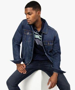Blouson homme en jean coupe droite vue2 - GEMO (HOMME) - GEMO