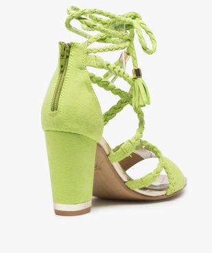 Sandales femme talon haut - Gémo x Lalaa Misaki vue4 - GEMO(URBAIN) - GEMO