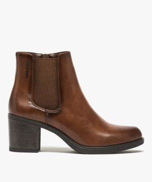Boots femme unies à talon style chelsea – Tom Tailor vue1 - TOM TAILOR - GEMO