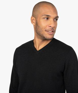 Pull homme en coton avec col V vue5 - GEMO (HOMME) - GEMO