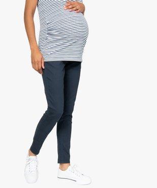 Jean de grossesse coupe slim avec large bandeau élastiqué vue1 - Nikesneakers (MATER) - Nikesneakers