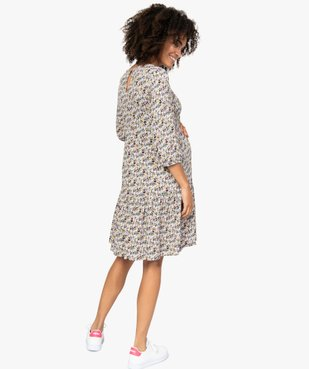 Robe de grossesse fleurie à manches longues vue3 - GEMO (MATER) - GEMO