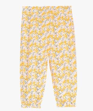 Pantalon bébé fille à motifs fleuris resserré aux chevilles vue3 - GEMO(BEBE DEBT) - GEMO