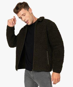 Blouson homme en polaire aspect laine de mouton vue1 - Nikesneakers (HOMME) - Nikesneakers