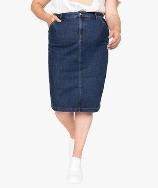 Jupe femme en jean longueur genou vue1 - GEMO (G TAILLE) - GEMO