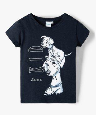 Tee-shirt fille à manches courtes imprimé Disney - Les 101 Dalmatiens vue1 - DISNEY DTR - GEMO