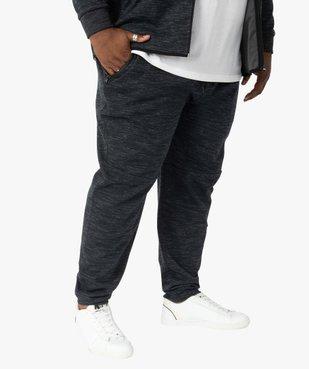 Pantalon homme en maille chinée à poches zippées vue1 - GEMO (G TAILLE) - GEMO