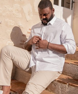 Pantalon homme chino en stretch coupe straignt vue6 - GEMO (G TAILLE) - GEMO
