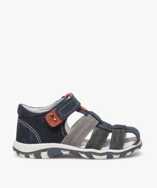 Sandales garçon en cuir bout fermé et fermeture scratch vue1 - Nikesneakers (ENFANT) - Nikesneakers
