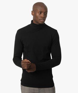 Tee-shirt homme à large col roulé coupe slim vue1 - GEMO (HOMME) - GEMO