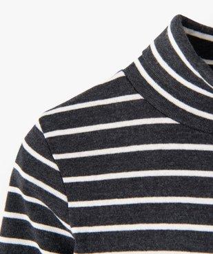 Tee-shirt garçon rayé à manches longues et col montant vue2 - GEMO (ENFANT) - GEMO