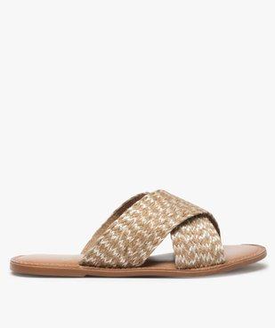 Sandales femme à larges brides croisées vue1 - GEMO (CASUAL) - GEMO