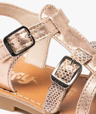 Sandales fille à brides métallisées ajustables - Bopy vue6 - BOPY - GEMO