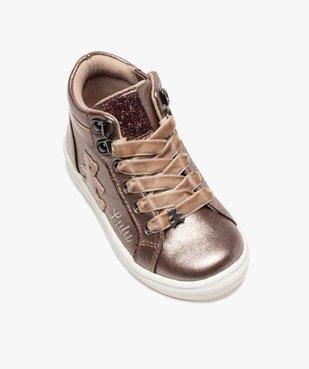 Baskets fille semi-montantes métallisées – LuluCastagnette vue5 - LULU CASTAGNETT - Nikesneakers