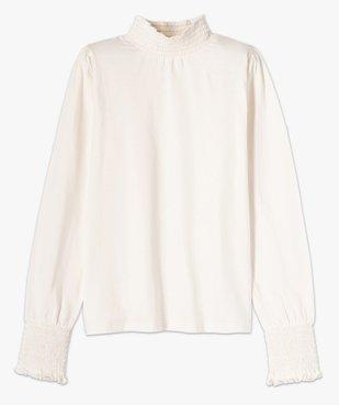 Tee-shirt femme à manches longues col montant vue4 - GEMO C4G FEMME - GEMO