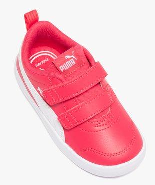 Tennis fille bicolores à scratch – Puma Courtflex vue5 - PUMA - Nikesneakers