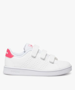 Baskets fille unies trois bandes scratch – Adidas vue1 - ADIDAS - Nikesneakers