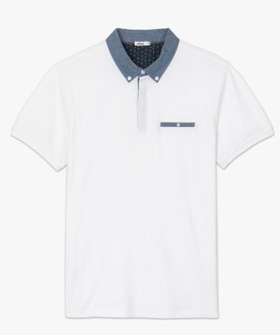 Polo homme avec col chemise contrastant vue4 - Nikesneakers (HOMME) - Nikesneakers