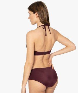 Haut de maillot de bain forme corbeille effet drapé vue2 - GEMO (PLAGE) - GEMO