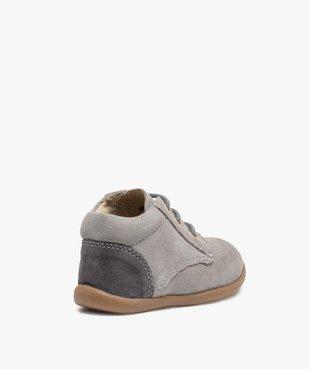 Chaussures de marche bébé en cuir bicolores vue4 - GEMO(BEBE DEBT) - GEMO