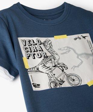 Tee-shirt garçon effet 2 en 1 avec large motif dinosaure vue2 - GEMO C4G GARCON - GEMO