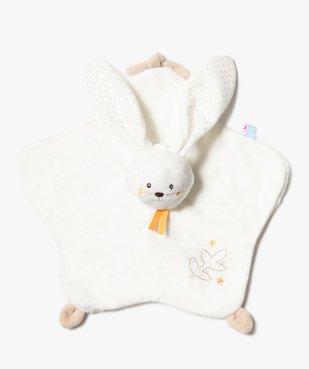Doudou bébé plat motif lapin – Sucre d'Orge vue1 - SUCRE D'ORGE - GEMO