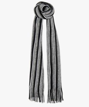 Echarpe rayée pour homme avec longues franges vue1 - GEMO (ACCESS) - GEMO