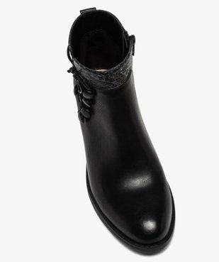 Boots femme à talon plat et laçage fantaisie vue5 - GEMO (CASUAL) - GEMO