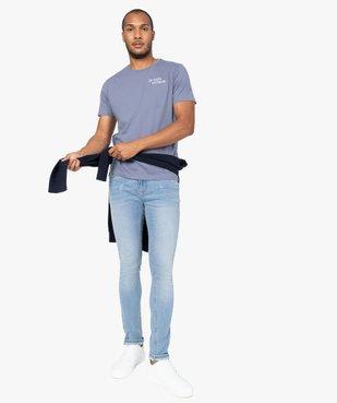 Tee-shirt homme à manches courtes à message brodé 100% coton biologique vue5 - GEMO (HOMME) - GEMO