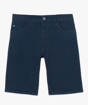 Bermuda homme en toile de coton épaisse coupe jean vue5 - GEMO (HOMME) - GEMO