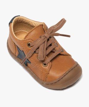 Chaussures premiers pas à lacets bébé garçon - Bopy vue5 - BOPY - GEMO